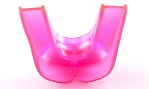 pink dental night guard for children